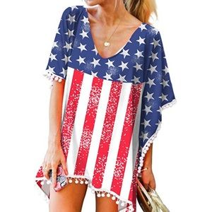 American flag beach cover up